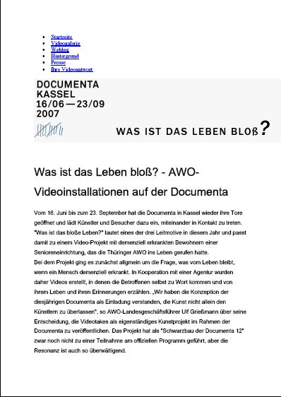 Interview zur Documenta_Was ist das Leben bloß?